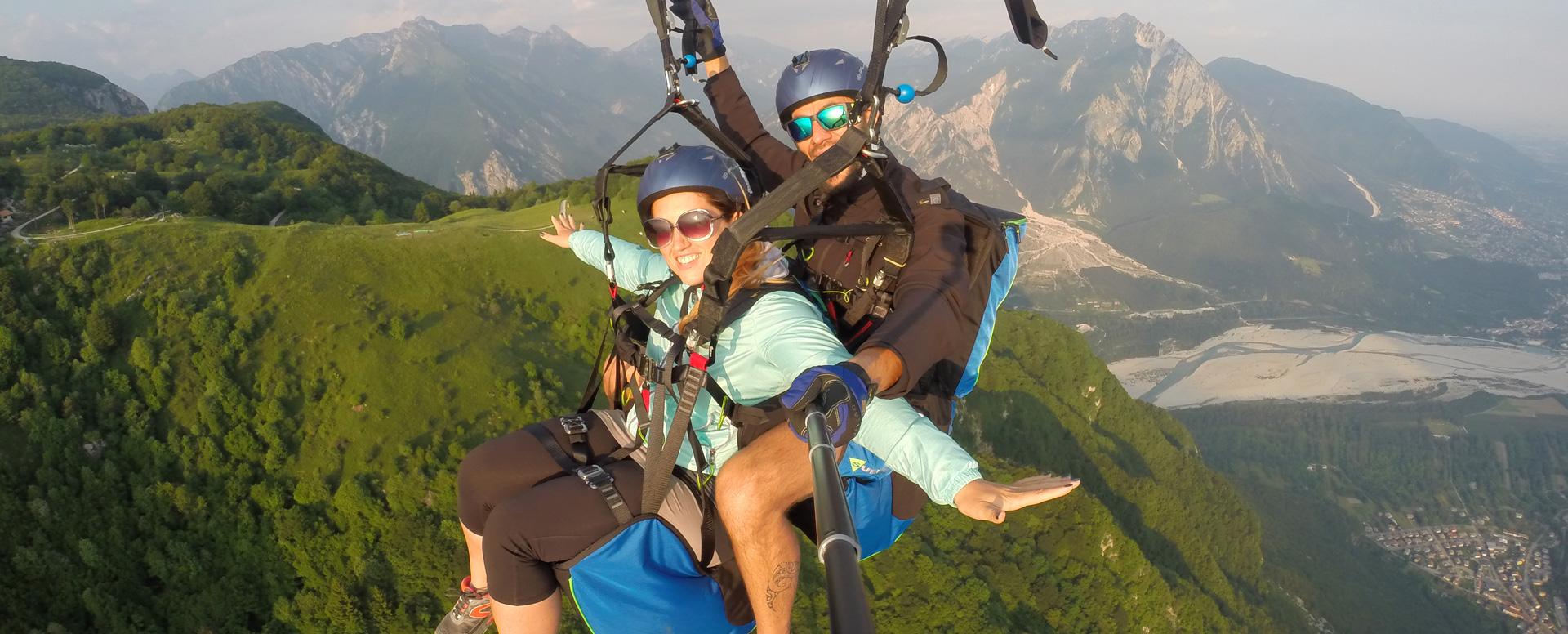 Voli in tandem biposto parapendio e deltaplano in Friuli Venezia Giulia